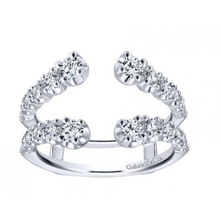 14K WHITE GOLD DIAMOND ANNIVERSARY BAND ENHANCER