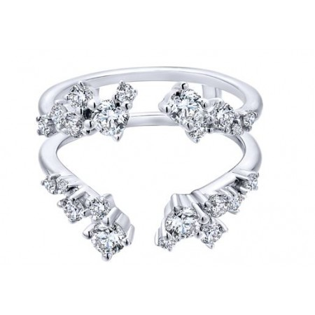 14K WHITE GOLD DIAMOND ANNIVERSARY BAND ENHANCER RING