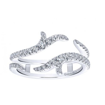 14K WHITE GOLD DIAMOND ANNIVERSARY ENHANCER RING
