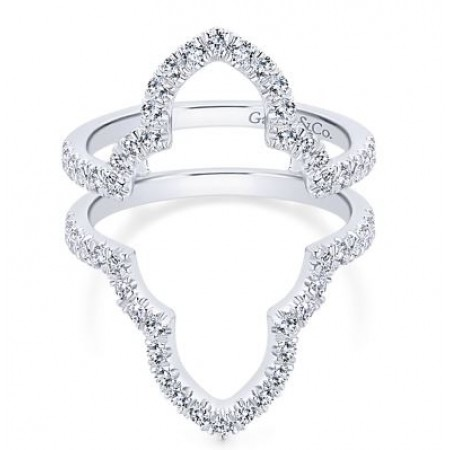 Gabriel & Co. 14k White Gold Diamond Ring Guard