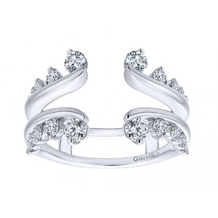Gabriel & Co. 14k White Gold Diamond Wedding Ring Enhancer