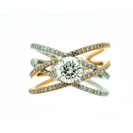 Gabriel & Co. Two-Tone 1.0 Carat Diamond Engagement Ring