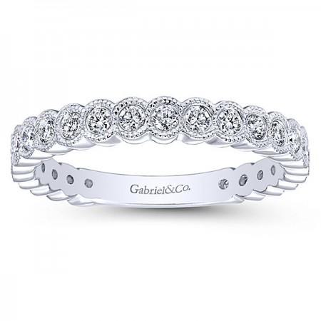 14K WHITE GOLD 0.46CT DIAMOND STACKABLE RING