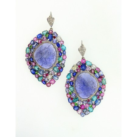 18K MULTI-GEMSTONE CONFETTI EARRINGS