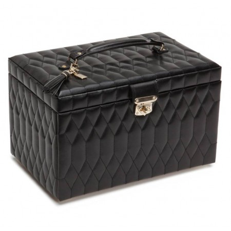 WOLF BLACK CAROLINE MEDIUM JEWELRY BOX
