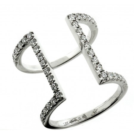 18K WHITE GOLD DIAMOND FASHION RING