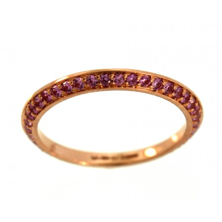 18K ROSE GOLD 0.38CT PINK SAPPHIRE BOOK END ETERNITY BAND