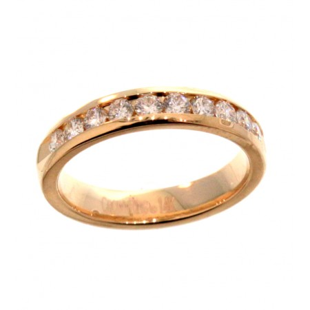 14K YELLOW GOLD 1.05CT  DIAMOND WEDDING BAND