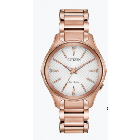 CITIZEN ECO DRIVE MODENA E031 WITH PINK GOLD-TONE