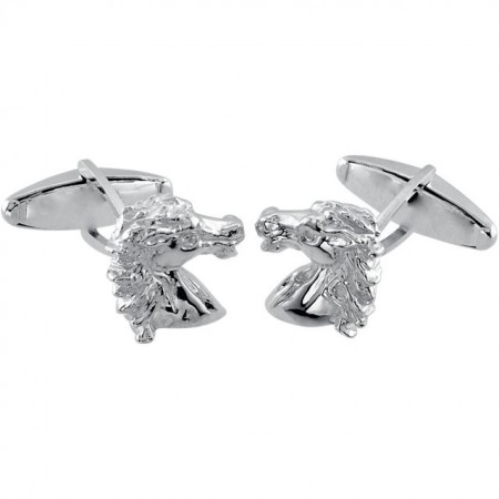 14K WHITE GOLD SPIRIT OF THE ANDALUSION BREED LEFT CUFF LINK