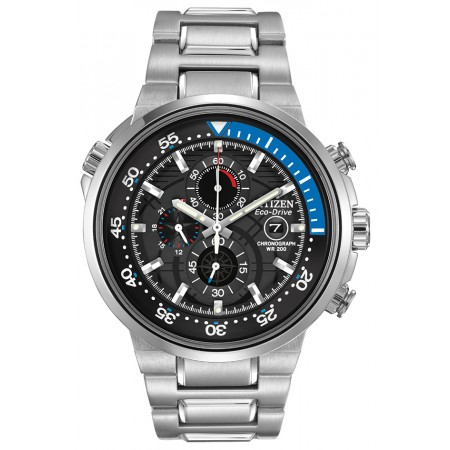 CITIZEN ECO-DRIVE, B612 1/5 SECOND CHRONOGRAPH