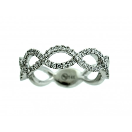 14K WHITE GOLD DIAMOND INFINITY BAND
