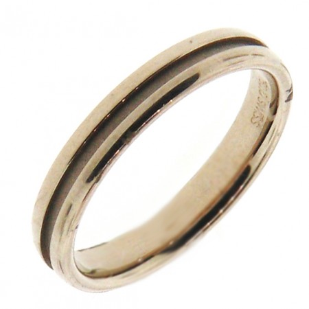 MEN'S 18K WHITE GOLD 4MM WEDDING BAND