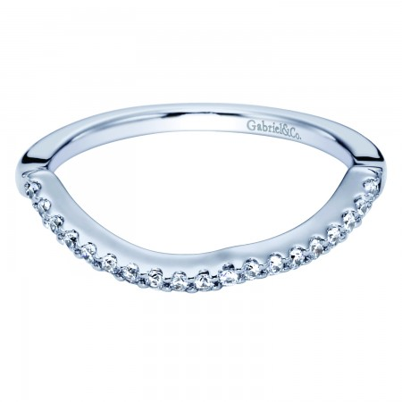 14K WHITE GOLD NESTING DIAMOND WEDDING BAND