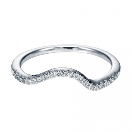 14K WHITE GOLD DIAMOND NESTING BAND