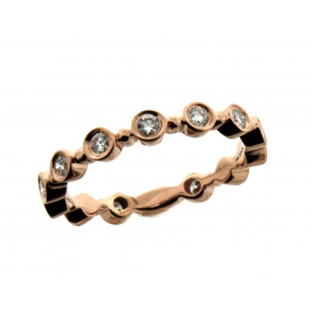 Gabriel and Co 14K Rose Gold Diamond Wedding Band