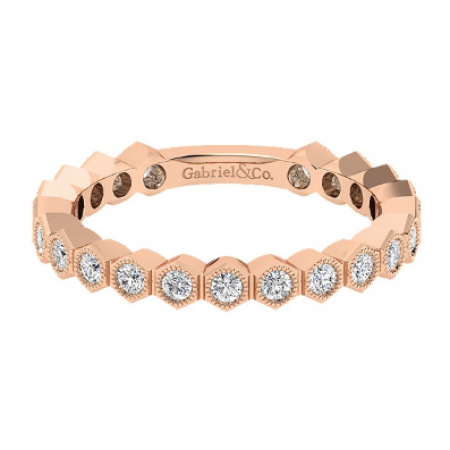 14K ROSE GOLD STACKABLE BAND
