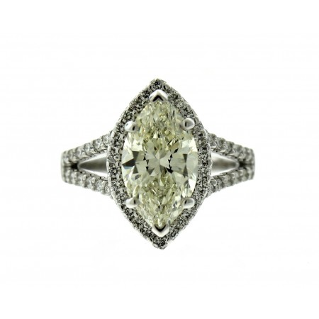 3.24 Carat Marquise Diamond Engagement Ring