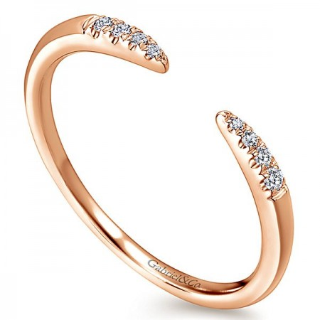 14K ROSE GOLD OPEN DIAMOND BAND