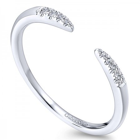 14K WHITE GOLD OPEN DIAMOND BAND
