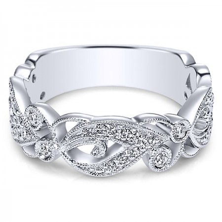 14K WHITE GOLD DIAMOND STACKABLE BAND