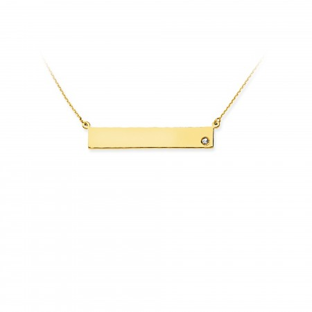 14K YELLOW GOLD NAME PLATE NECKLACE