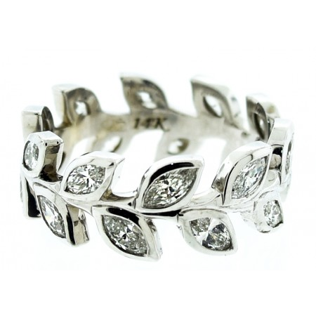 14K WHITE GOLD 2.00CT DIAMOND ETERNITY BAND
