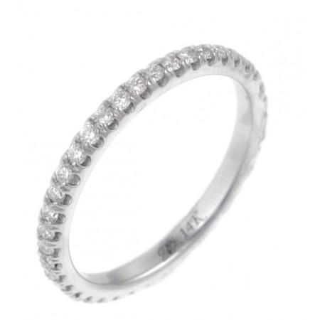 14K WHITE GOLD 0.35CT ETERNITY BAND