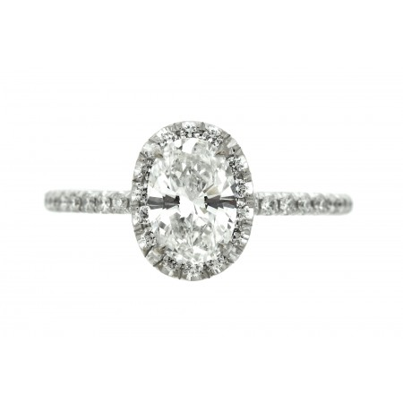0.77 OVAL CUT DIAMOND ENGAGEMENT RING