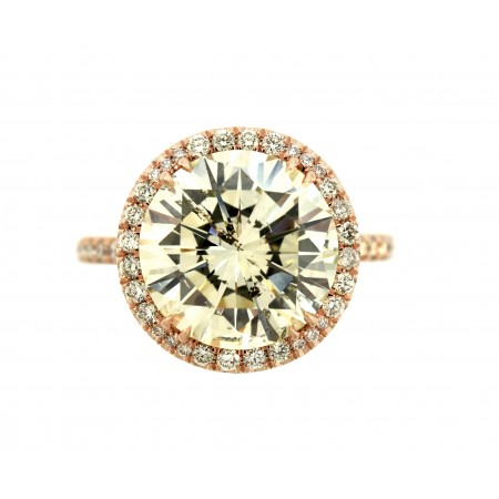 5.10 CARAT ROUND BRILLIANT DIAMOND ENGAGEMENT RING