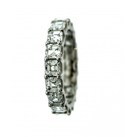PLATINUM 4.35CT DIAMOND ETERNITY BAND
