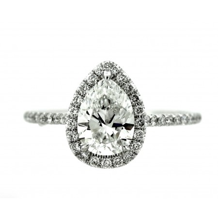 1.08 CARAT PEAR SHAPED DIAMOND ENGAGEMENT RING