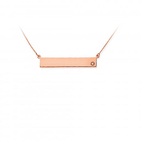 14K ROSE GOLD NAME PLATE NECKLACE