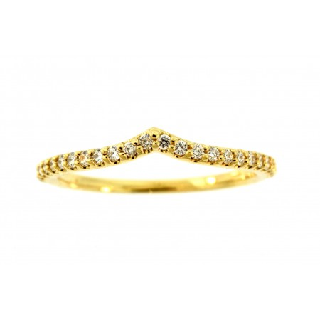 14K YELLOW GOLD NESTING DIAMOND ANNIVERSARY BAND