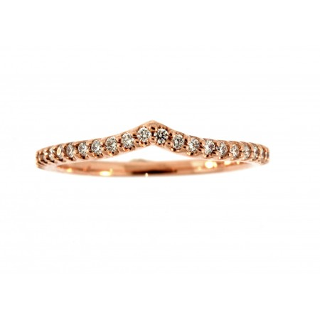 14K ROSE GOLD DIAMOND NESTING ANNIVERSARY BAND