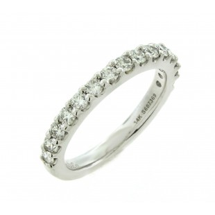 Gabriel and Co 14K White Gold Diamond Band