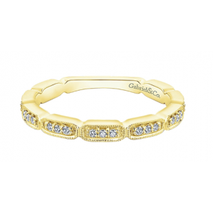 Gabriel and Co 14K Yellow Gold Diamond Band