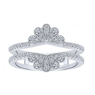 Gabriel and Co 14K White Gold Diamond Ring Guard
