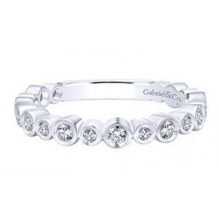 Gabriel & Co. 14K White Gold Diamond Band