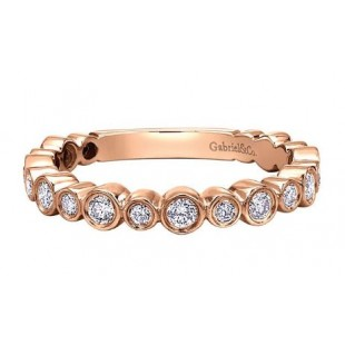 Gabriel and Co. 14k Rose Gold Stackable Diamond Band