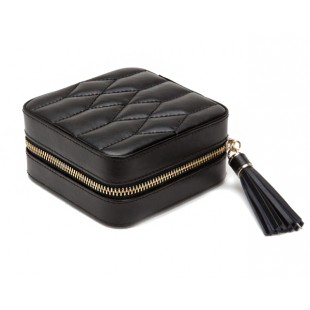 WOLF BLACK CAROLINE ZIP TRAVEL CASE