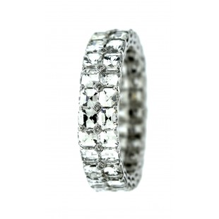 18K 5.47 CARAT 2 ROW DIAMOND ETERNITY BAND