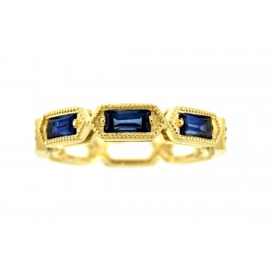 14K YELLOW GOLD 1.33CT SAPPHIRE BAND