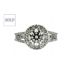 1.24 Carat Round Briliant Diamond Engagement Ring