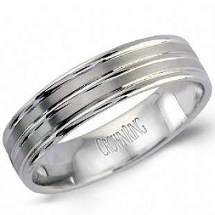 GENTS 14K WHITE GOLD WEDDING BAND