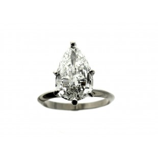 2.58 Carat Pear Diamond Engagement Ring