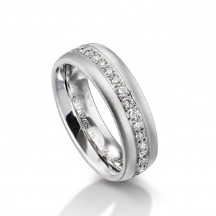 PLATINUM FURRER JACOOT WEDDING BAND