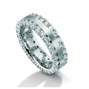 MEN'S AND LADIES PLATINUM DIAMOND ETERNITY WEDDING BAND