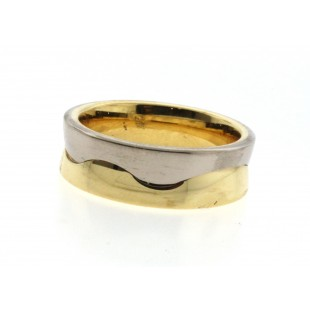 MEN'S 18K WHITE AND YELLOW GOLD