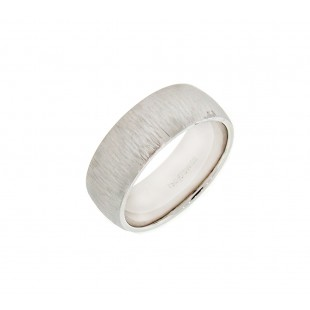 18K WHITE GOLD GENT'S WEDDING BAND